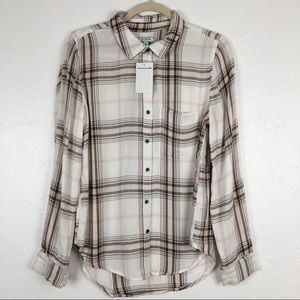 Susina From Nordstrom long sleeve shirt plaid S